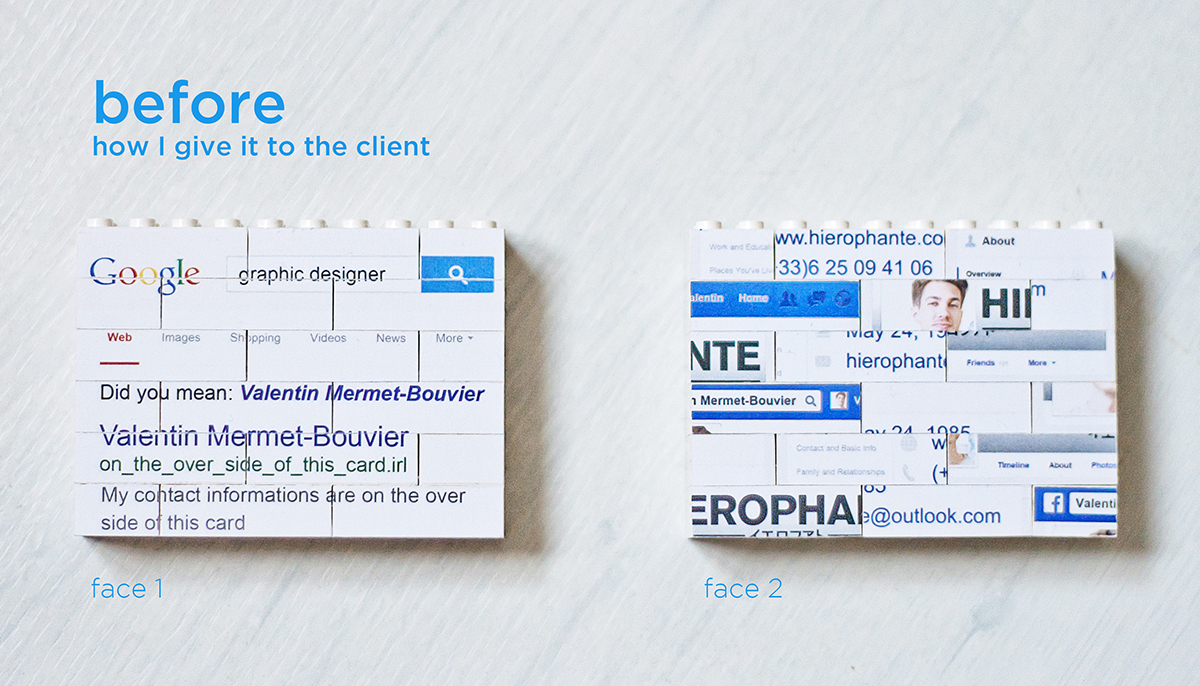 Lego Business Cards - Hierophante - Hierophante